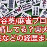 水谷葵/麻雀プロは結婚してる?東大出身の噂や身長など経歴まとめ!